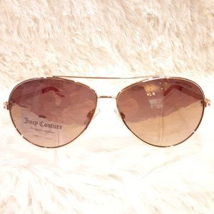 New JUICY COUTURE Sunglasses Aviator Pink Gold
